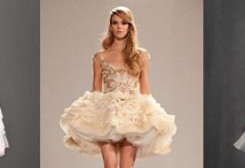 Дорогие короткие свадебные платья: модный образ невесты