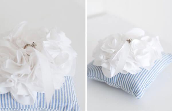 Красивая подушка для колец на свадьбу: мастер класс