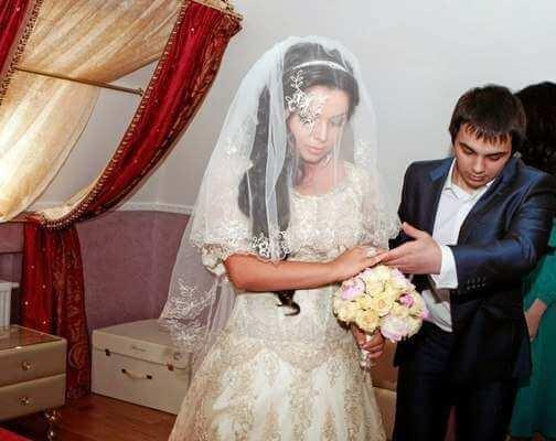 чеченская невеста в фате