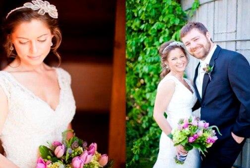 жених и невеста на свадьбе