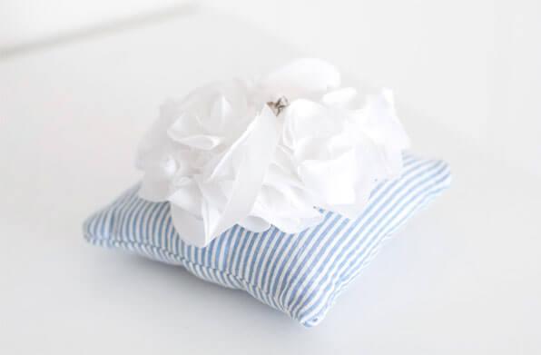 Подушка для колец в морском стиле своими руками