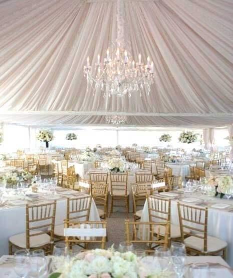 свадебный шатер в светлых тонах
