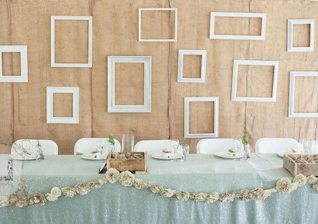 Украшение свадебной зала в эко стиле