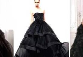 Черное свадебное платье – роскошный наряд для смелой и яркой модницы