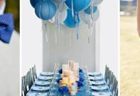 Свадьба в синем цвете: образ невесты и жениха