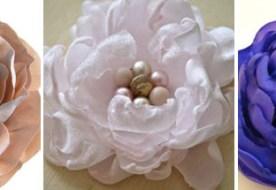 Цветы из ткани своими руками для свадебного торжества