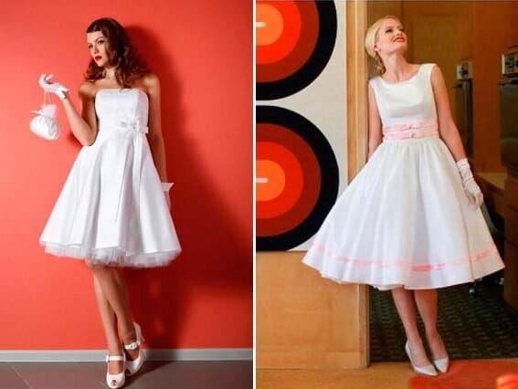 невеста в платье 50-х