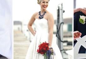 Платье в морском стиле для невесты: милый образ для тематической свадьбы