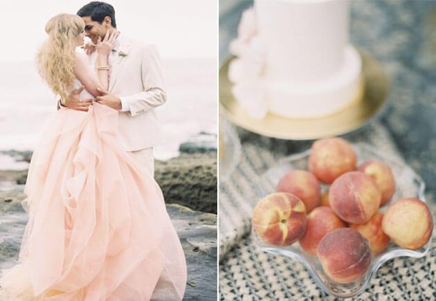 свадьба на пляже в персиковом