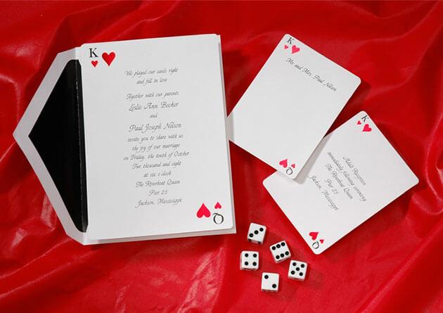 приглашения на свадьбу в стиле казино