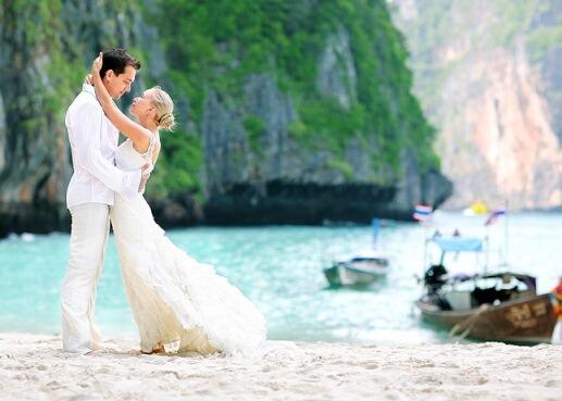 свадьба в теплых странах