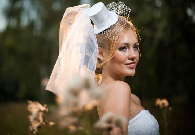 невеста в шлаяпке цилиндре