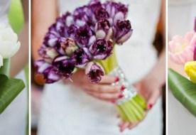 Свадебный букет из тюльпанов: нежность весны для невесты
