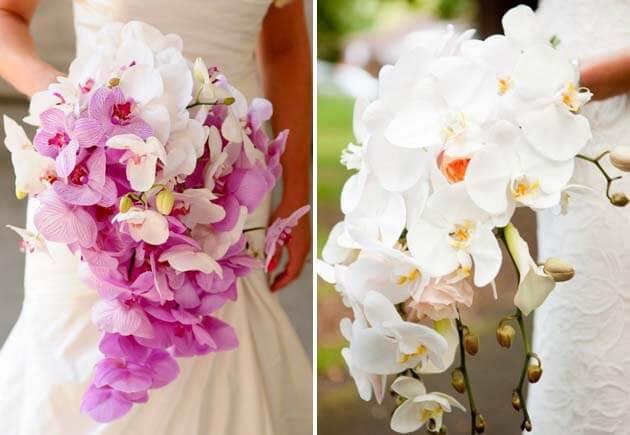 орхидеи в свадебном букете