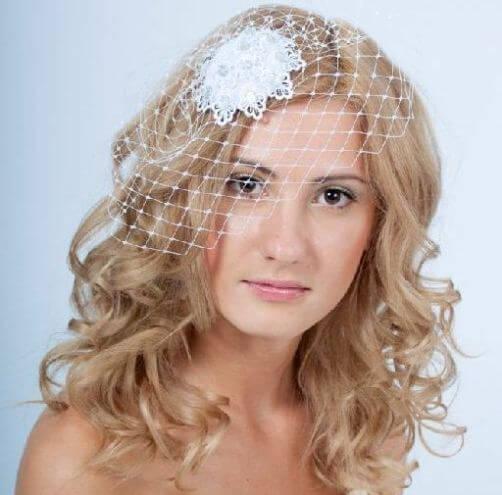 свадебная вуалетка с цветком