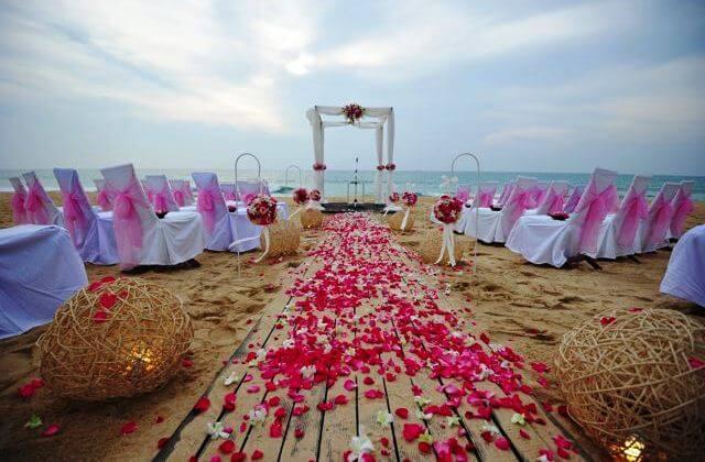 свадебная площадка на пляже