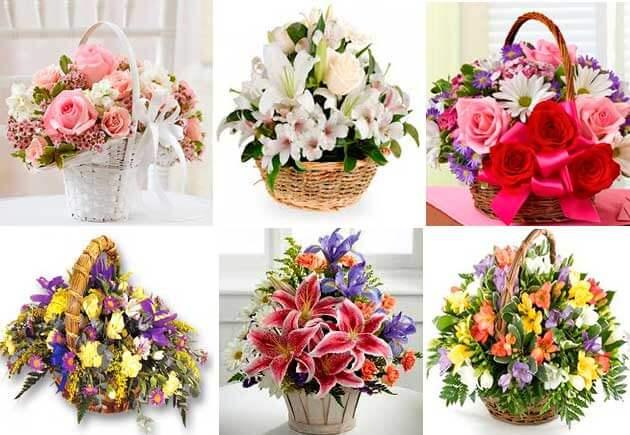 корзины с цветами на свадьбу