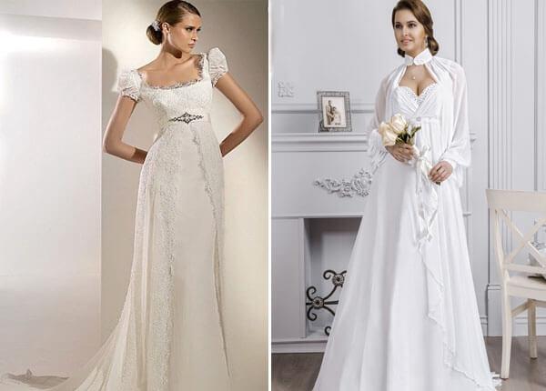 платья невесты ампир с рукавами