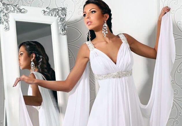свадебное платье ампир с накидкой