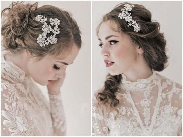 кружевное платье невесты с закрытой шеей