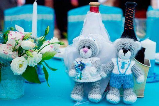 цвет свадебного декора - бирюзовый