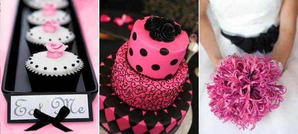 черный и розовый цвета свадьбы