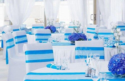 свадебный зал в бирюзовом цвете