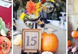 Как оформить свадебный стол осенью: вся красота ярких красок