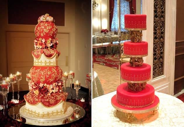 красивые красные торты на свадьбу