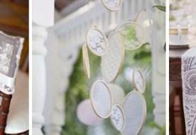 Кружево в свадебном декоре: акценты на ажурные детали