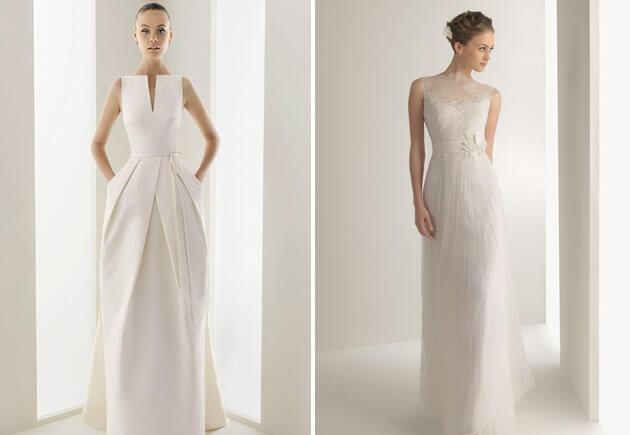 свадебные прямые платья