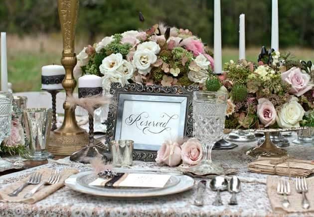 свадебный винтажный стол