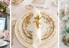 Как оформить свадебный стол в винтажном стиле: советы по декору