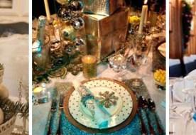 Как украсить свадебный стол зимой: вдохновляемся морозными идеями
