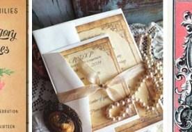Винтажные приглашения на свадьбу: маленький семейный шедевр