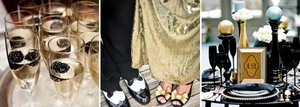 черный и золотой в свадебной палитре