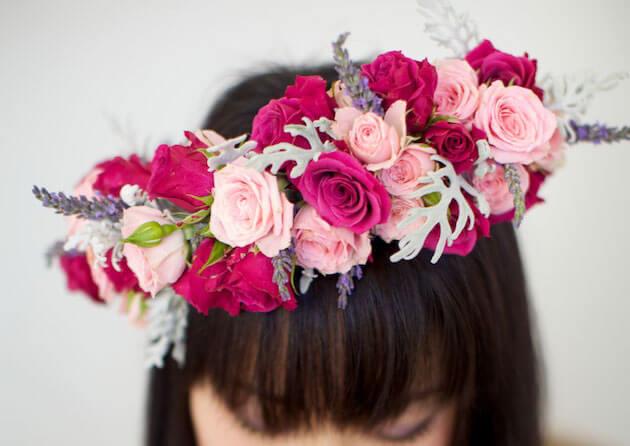 Венки на голову из цветов своими руками фото 528