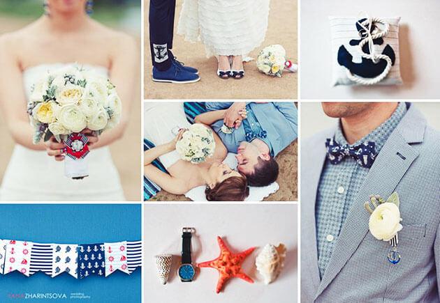 Как оформить свадьбу в морском стиле?