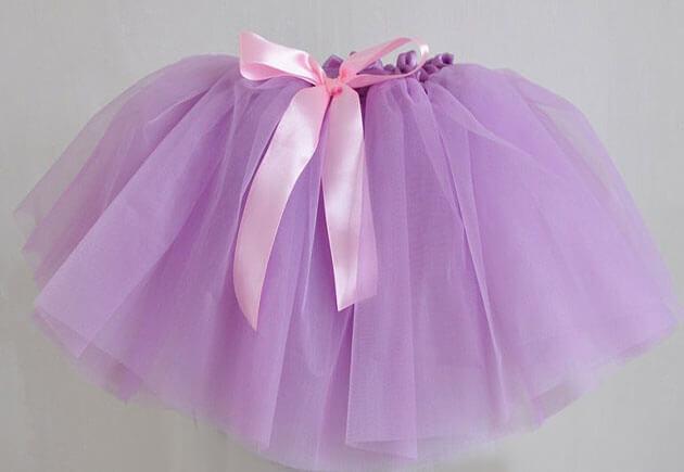 сиреневая юбка из фатина