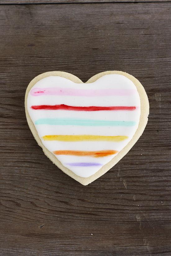 Painted Heart Sugar Cookies Lulu The Baker