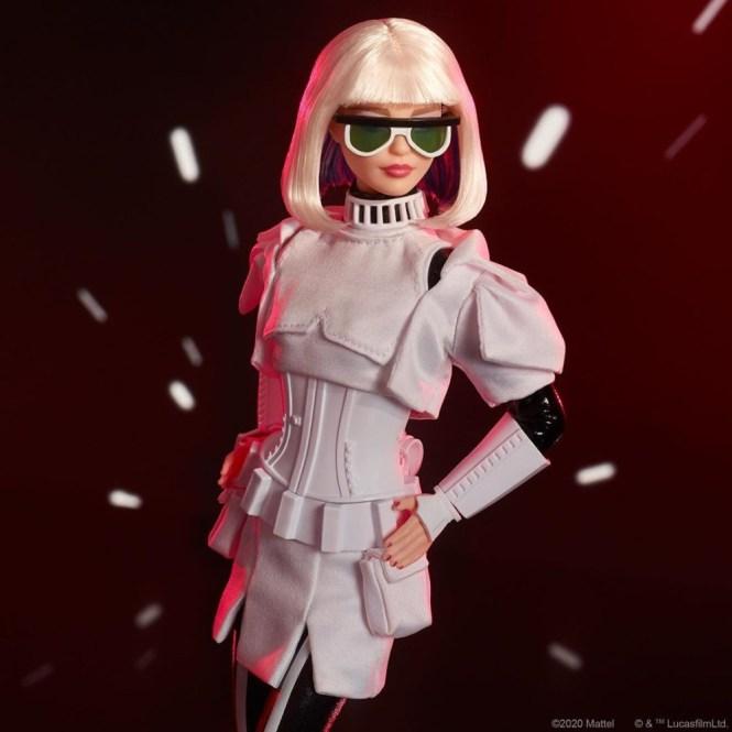 A linha da Barbie de Star Wars