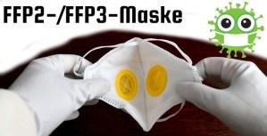 FFP2 und FFP3 Atemschutzmasken schützen gegen Viren Infektionen.