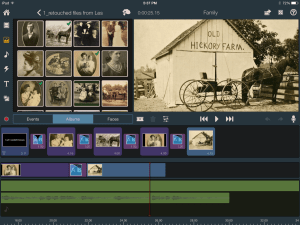 Editing historical family photos to create a family history video