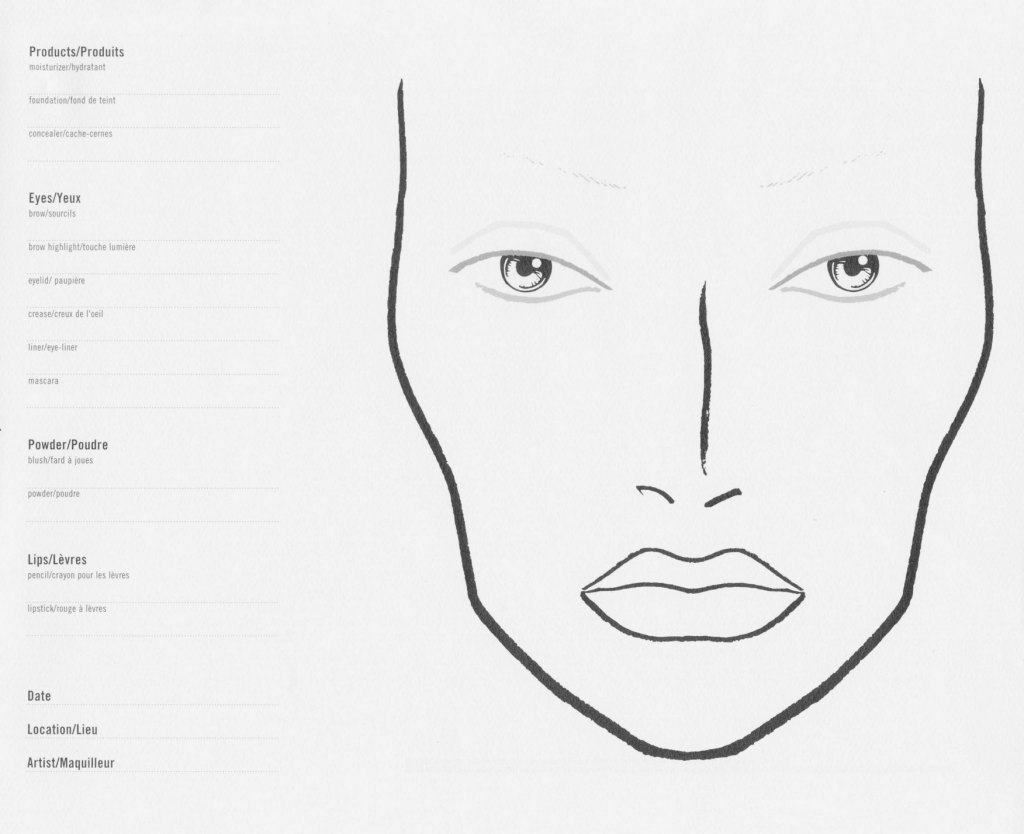 Mac Face Charts Produzindo A Producao