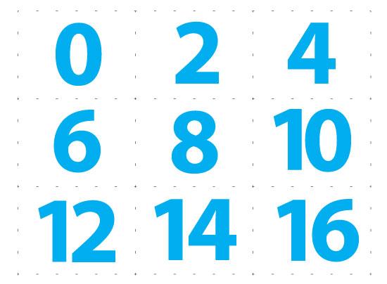 Angka 1 100 Dalam Garis Kotak Siap Print Mudah Di Potong