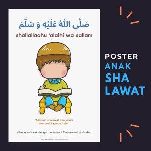 Poster belajar shalawat Nabi untuk anak-anak