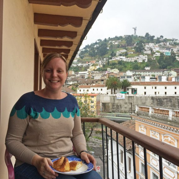 The view from Gayle's apartment balcony in La Ronda.