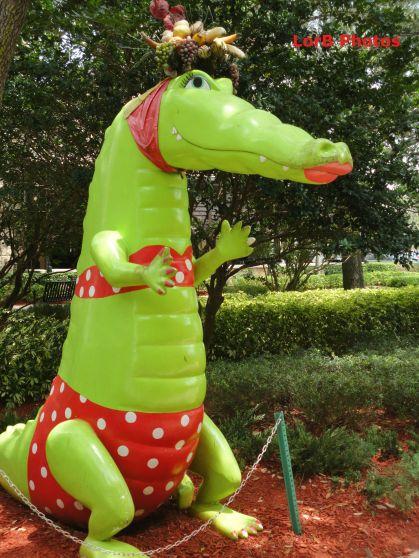 Gator Glam Exhibit Red Bikini