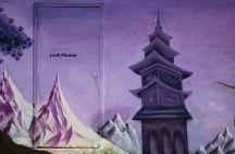 Graffiti Purple Temple