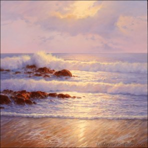 """Shimmering Coast"" 36x36 in. oil/canvas"